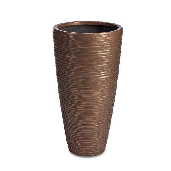 Curved Vase Bronze